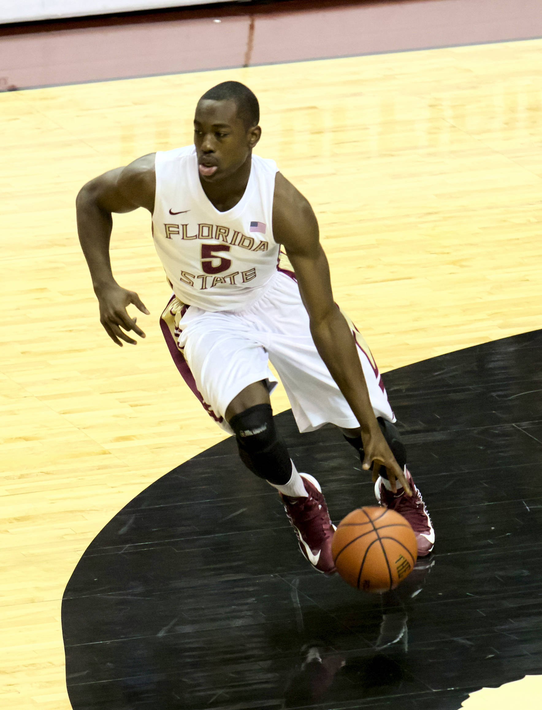 Montay Brandon (5), FSU vs South Alabama, 11/09/12. (Photo by Steve Musco)