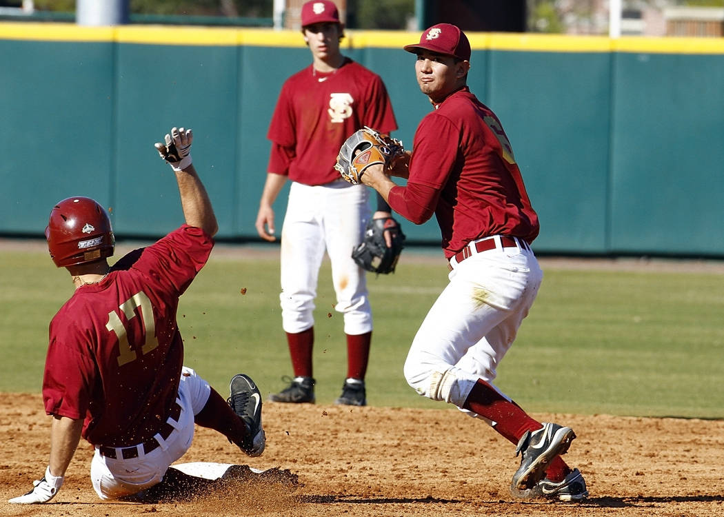 Friday's practice wasn't only about defense as the Seminoles worked on situational baserunning as well.