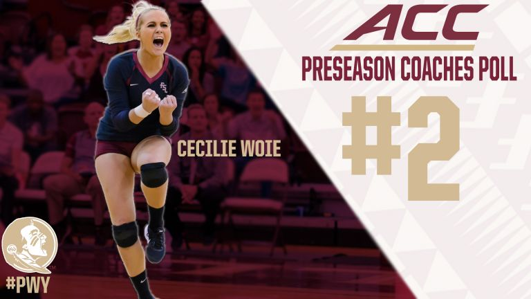 The Florida State volleyball team was selected second in the ACC Preseason Poll; Cecilie Woie