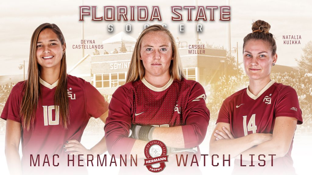 Seminole Trio Named To MAC Hermann Trophy Watch List