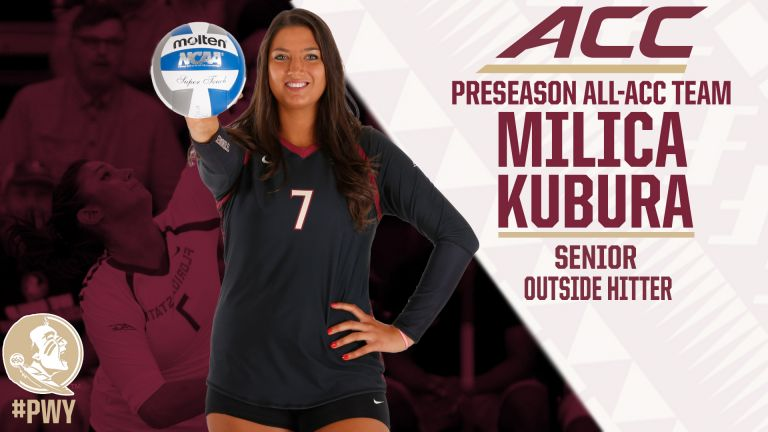 Florida State volleyball senior Milica Kubura was selected to the Preseason All-ACC team.