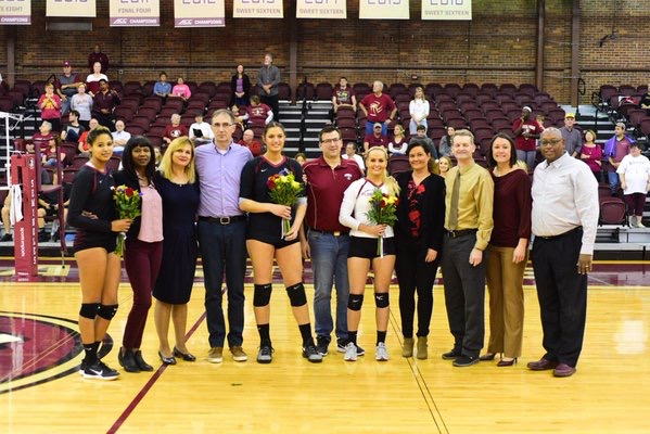 Volleyball Earns Senior Day Sweep Over Boston College