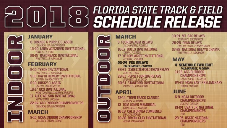 Ambitious 2018 Track & Field Schedule Released