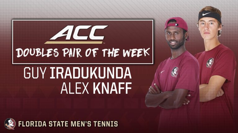 Iradukunda and Knaff Grab ACC Doubles Pair of the Week