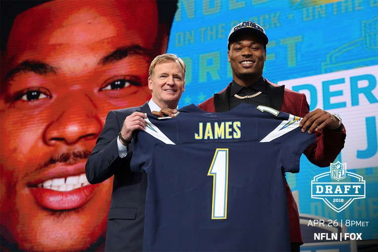 low priced 6176b 50f1e James Drafted 17th Overall By LA Chargers