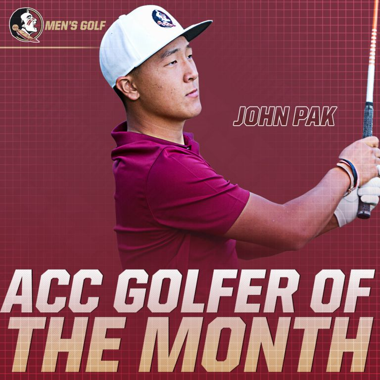 Pak Wins ACC Golfer of the Month