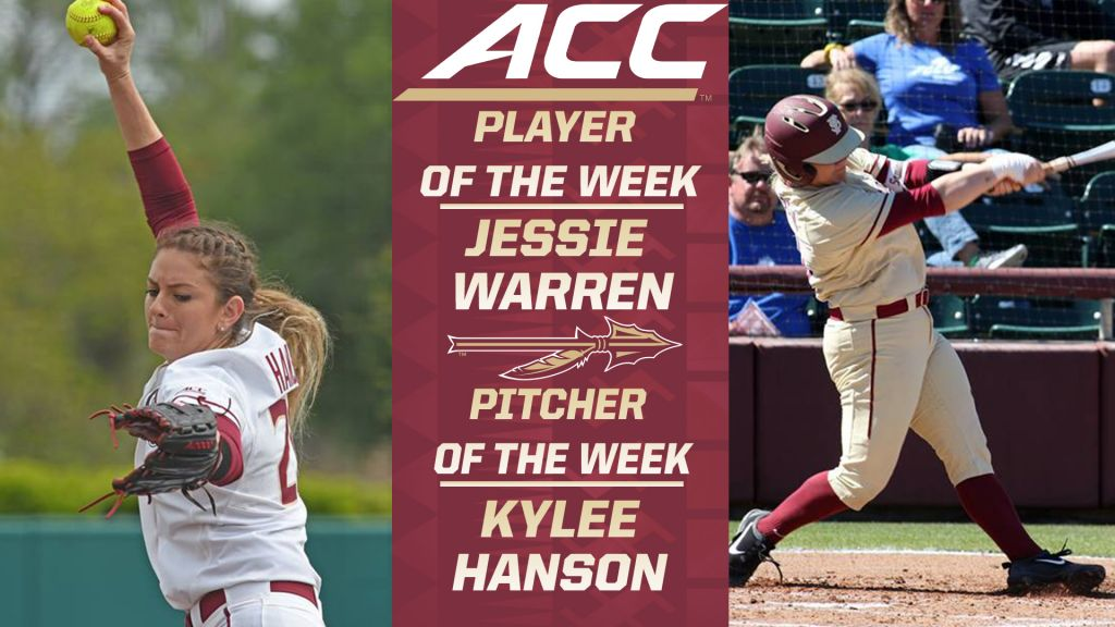 Jessie Warren And Kylee Hanson Sweep ACC Weekly Awards
