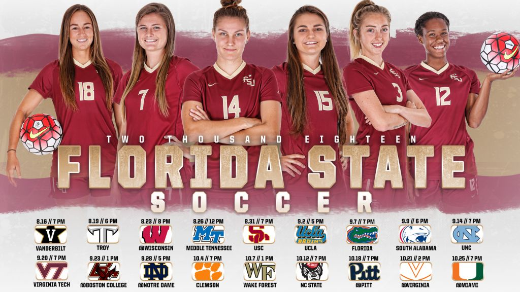Florida State Soccer Releases 2018 Schedule
