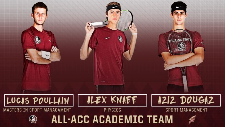 Men's Tennis Places Three on the All-ACC Academic Team