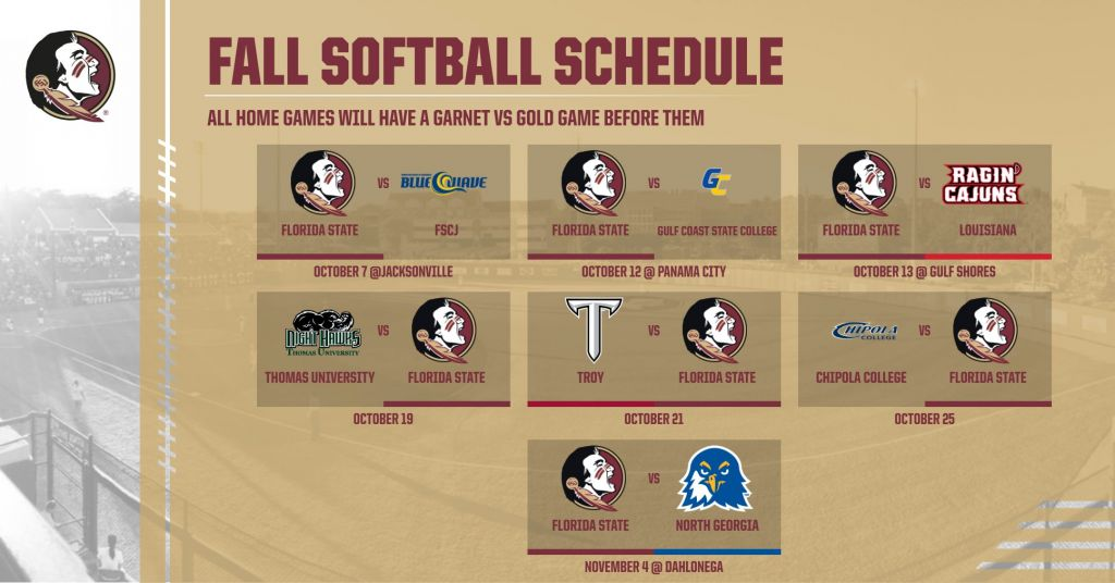 FSU Softball Announces Fall 2018 Schedule