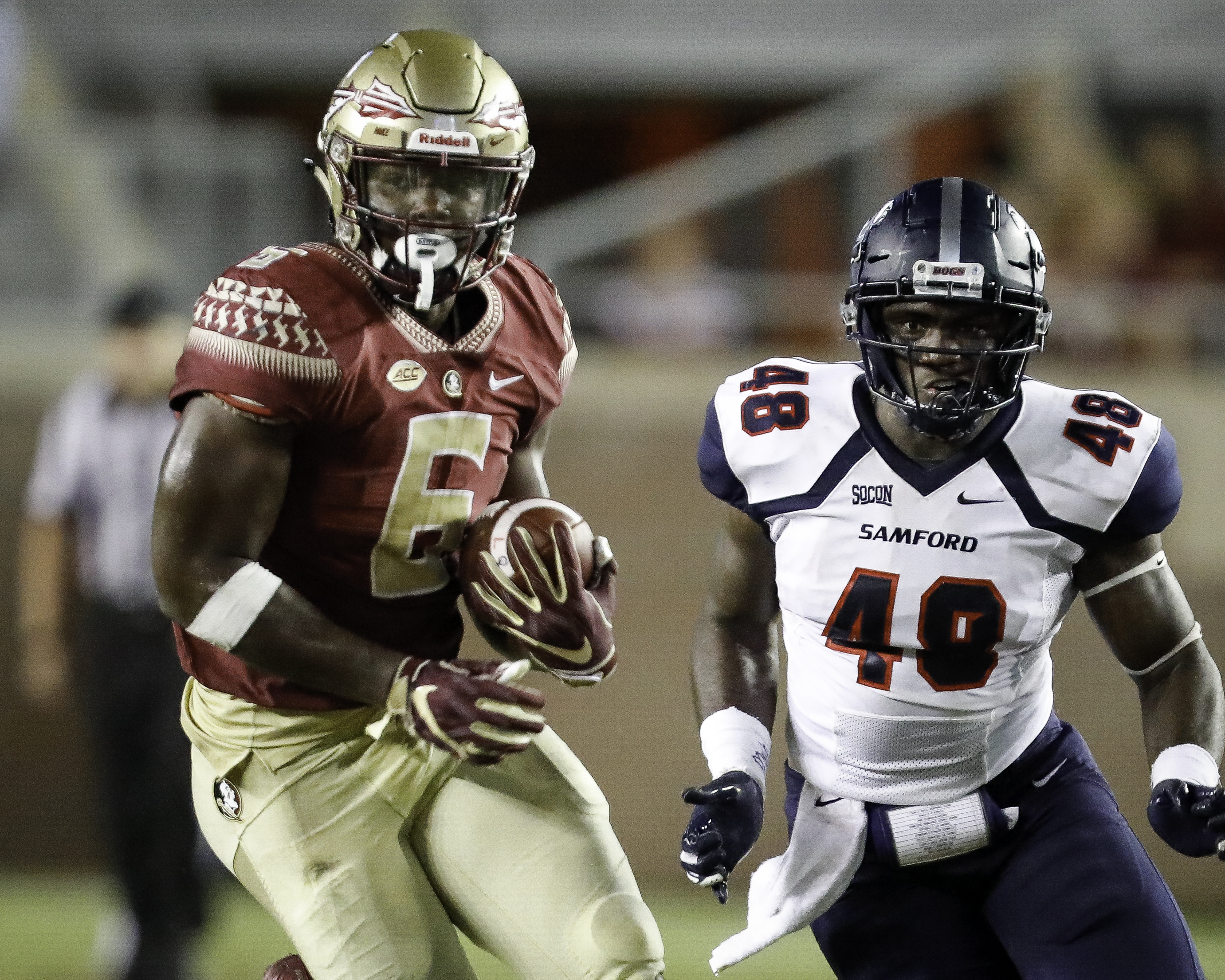 Photo: Tre McKitty (6) versus Samford, September 9, 2018 | Florida State Athletics