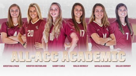 Six Seminoles Named To 2018 Women's Soccer All-ACC Academic Team