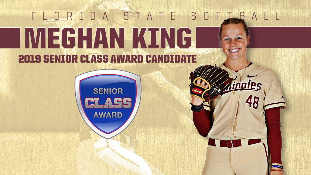 No. 3 FSU Hosts Notre Dame; Meghan King Named Senior CLASS Candidate