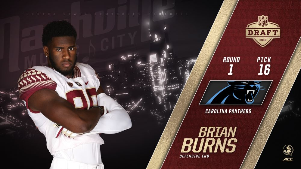 Burns Selected 16th Overall In First Round Of NFL Draft