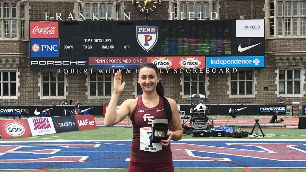 Kanuchova Hammers Out Penn Relays Title