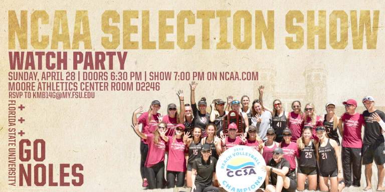 Beach Volleyball NCAA Selection Show Watch Party