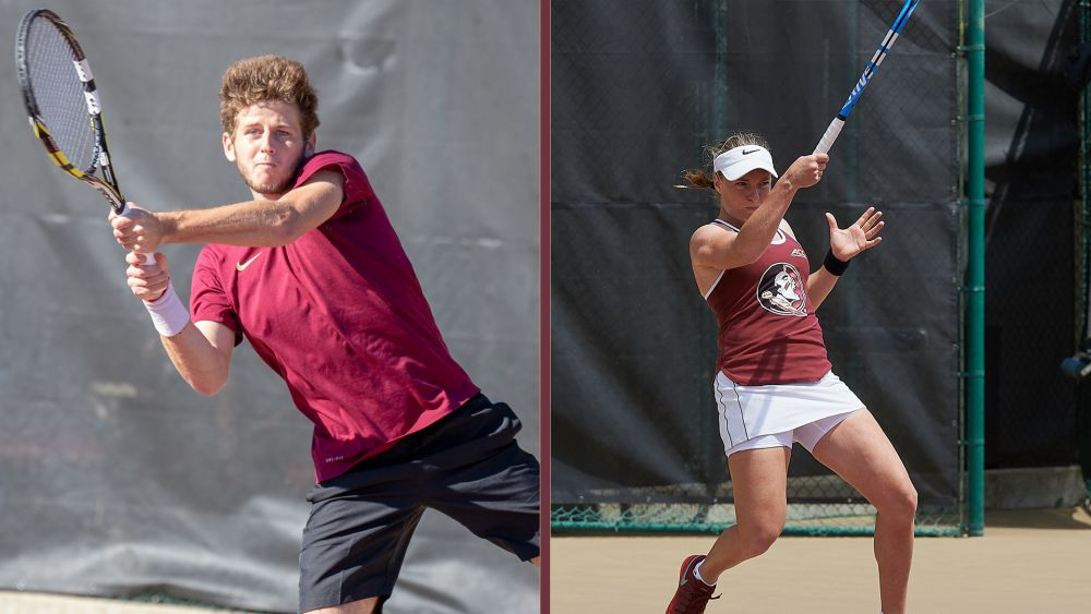 Touly and Poullain's Seasons Come to an End in First Round of NCAA Singles Championship