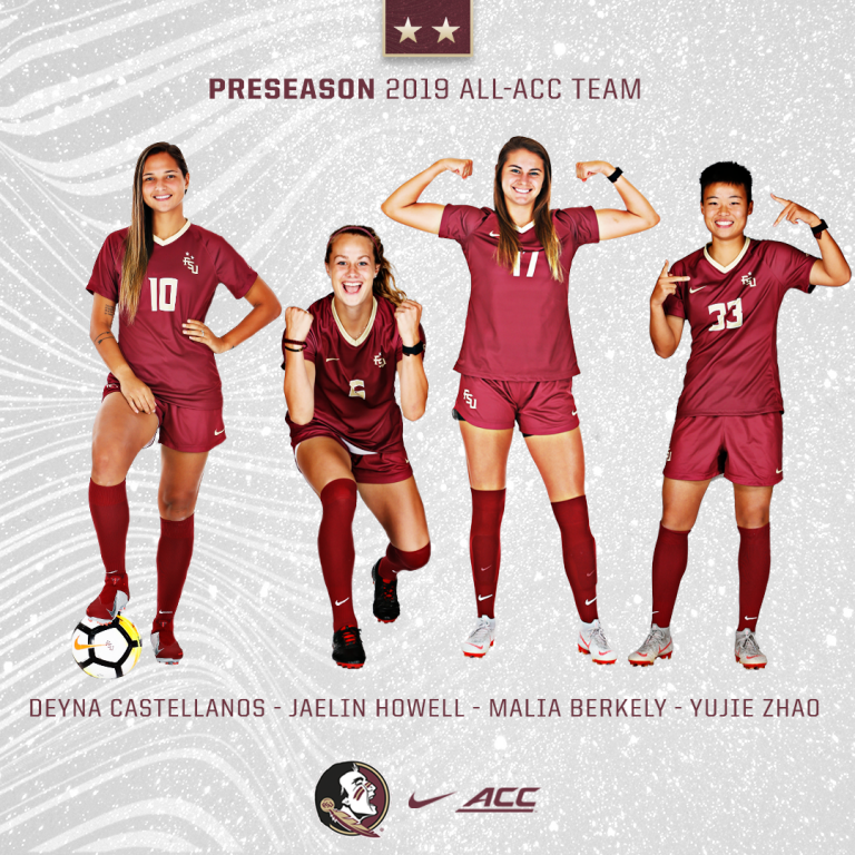 Soccer Picked to Finish Second in ACC; Place Four on All-ACC Preseason Team