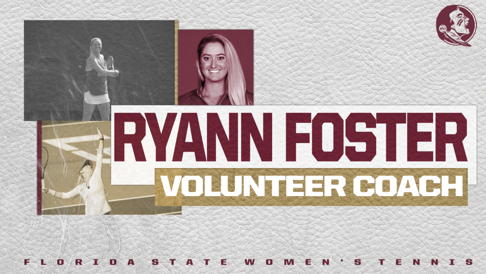 Women's Tennis Adds Ryann Foster as Volunteer Assistant Coach