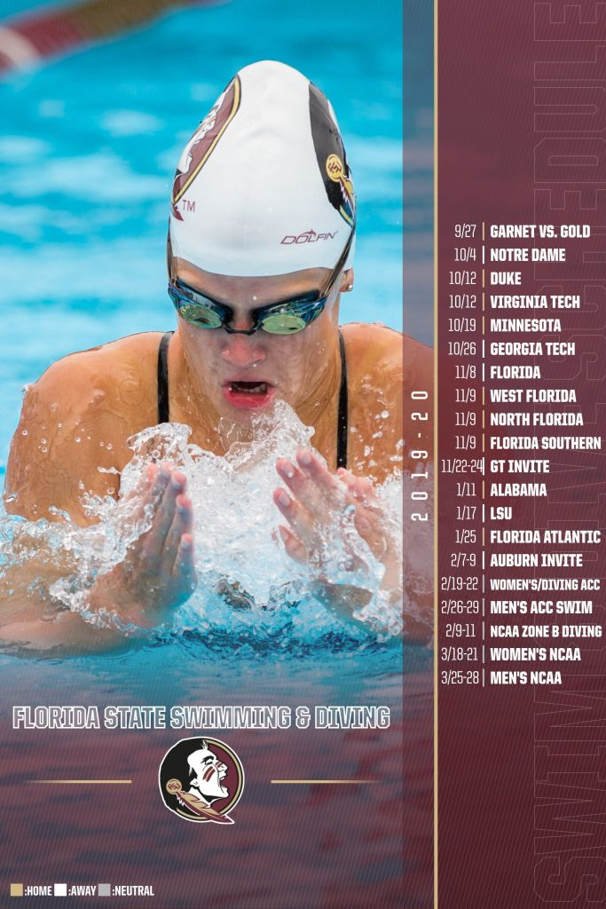2019-20 Swim & Dive Schedule Announced