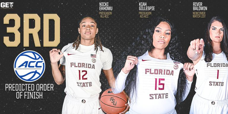 WOMEN'S HOOPS PREDICTED THIRD IN THE ACC