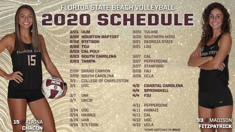 Beach Volleyball Announces 2020 Schedule