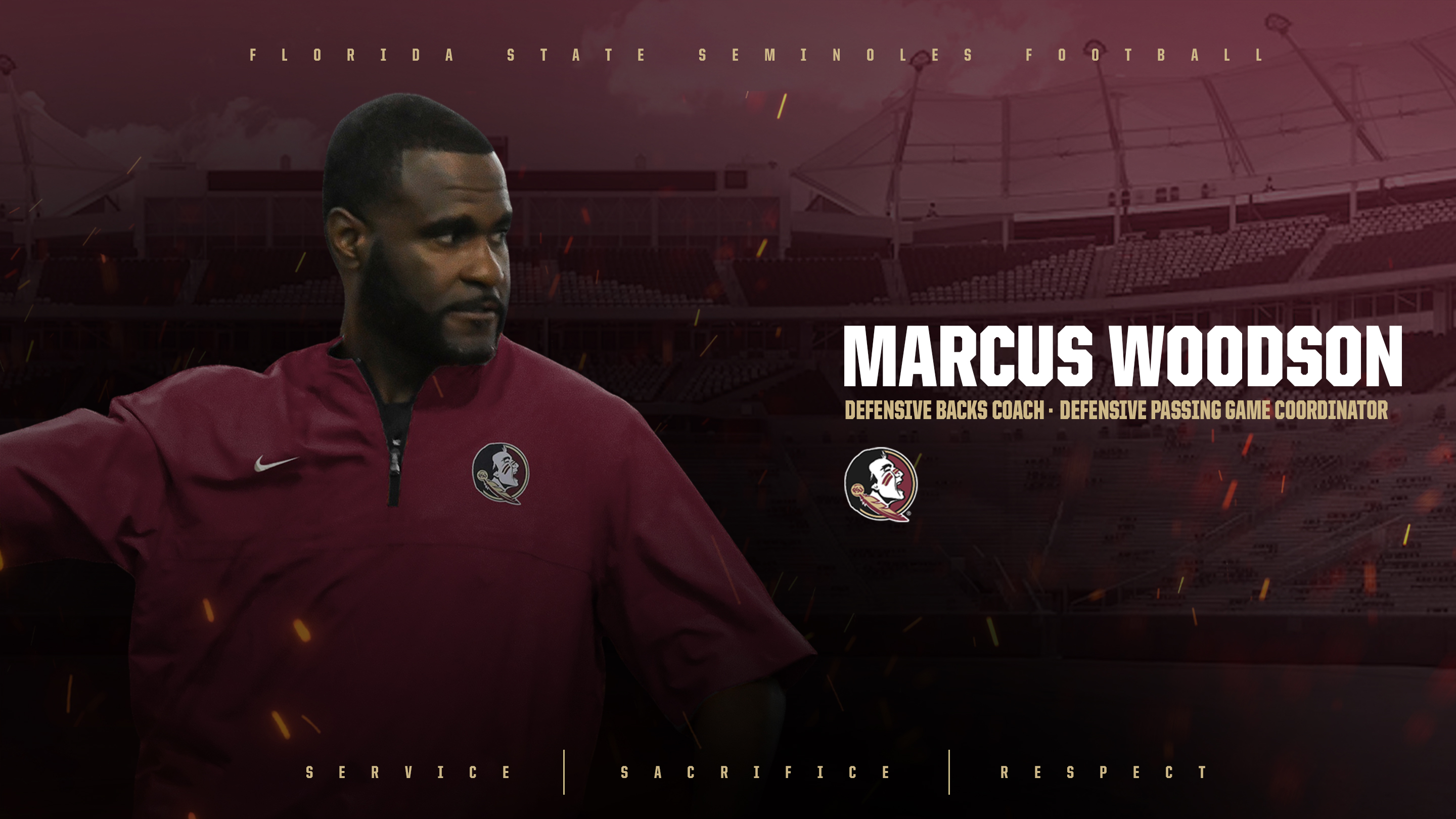 Marcus Woodson Named Defensive Backs Coach, Defensive Passing Game Coordinator
