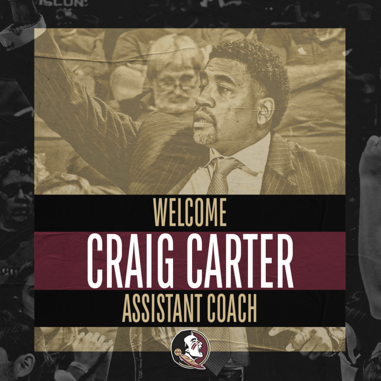 CRAIG CARTER HIRED AS ASSISTANT COACH