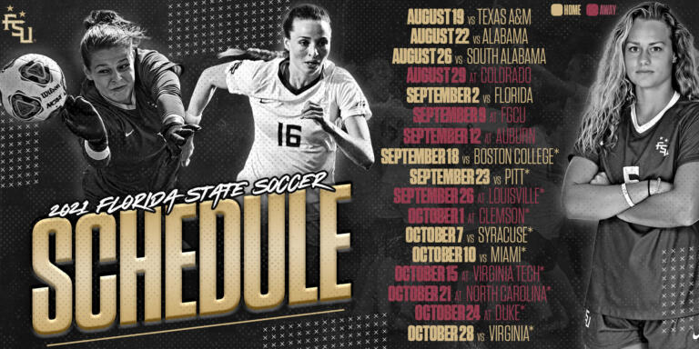 Florida State Soccer Releases 2021 Schedule