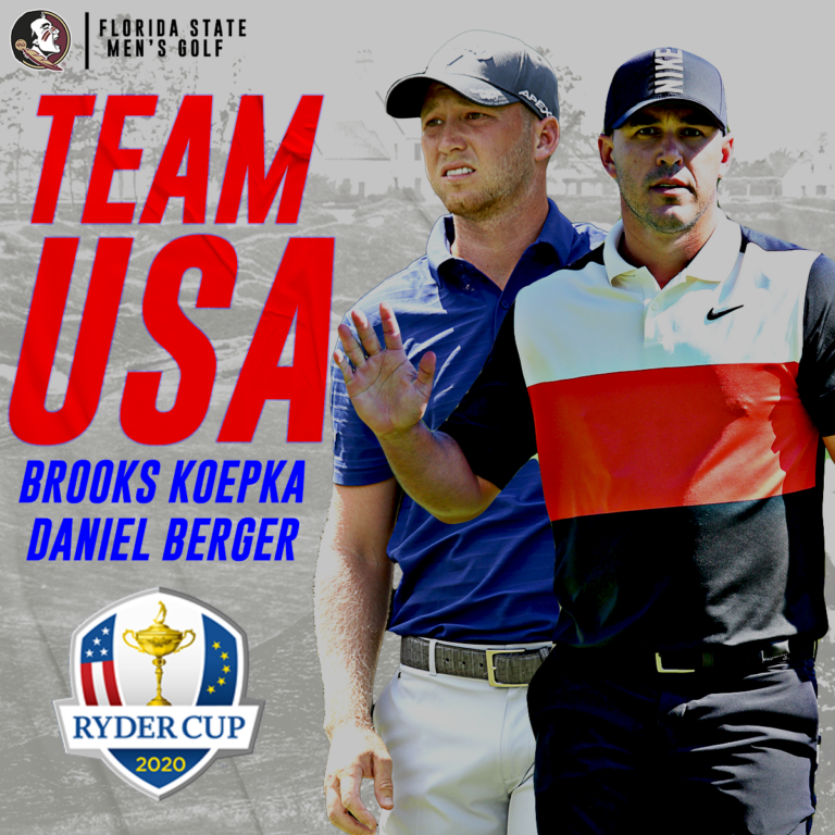 Berger, Koepka Selected to Team USA at Ryder Cup